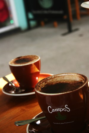 Campos Coffee at Cenzo Cafe Murwillumbah. Photo by Goldtoast Supper Club