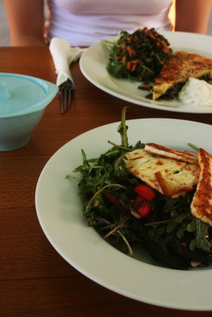 Haloumi Salad at Cenzo Cafe Murwillumbah. Photo by Goldtoast Supper Club