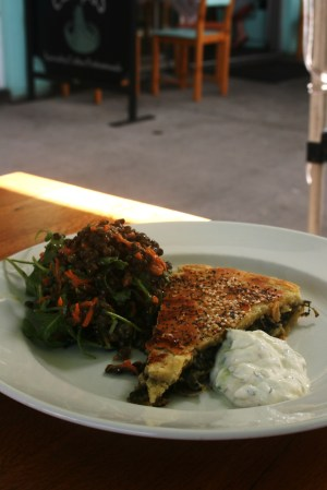 Spanakopita at Cenzo Cafe Murwillumbah. Photo by Goldtoast Supper Club