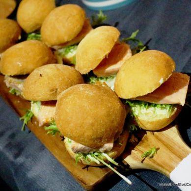 Salmon & Wasabi Burgers