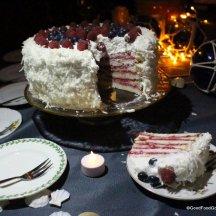Raspberry & Coconut Angel Food Cake