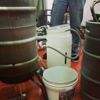 Knocking out in preparation for fermentation.