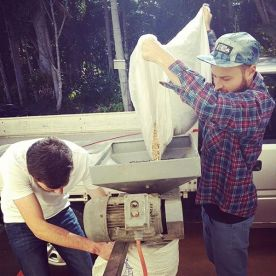 Milling grain for the beer!