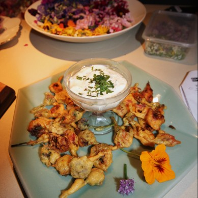 Bhaji Blossoms at Spring Fling hosted by Goldtoast Supper Club October 2014 Secret Pop Up Dining Elanora Gold Coast