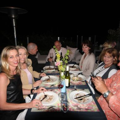 Our lovely guests for Spring Fling hosted by Goldtoast Supper Club October 2014 Secret Pop Up Dining Elanora Gold Coast
