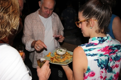 Serving the Bhaji Blossom at Spring Fling hosted by Goldtoast Supper Club October 2014 Secret Pop Up Dining Elanora Gold Coast