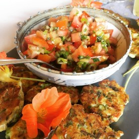 Asparagus and artichoke fritters