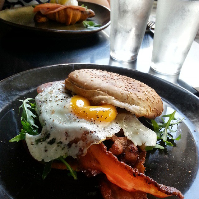 goldtoast in brisbane bacon and egg roll charming squire