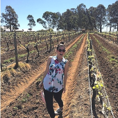 Natalie in the Hunter valley