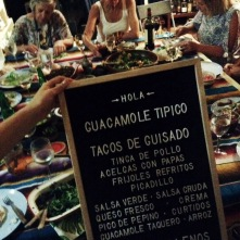 Mexican Sunday Supper menu, Gold Coast event