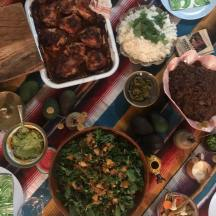 The table at Mexican Goldtoast Supper Club event